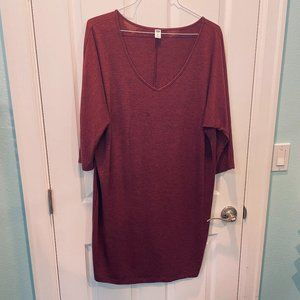 Old Navy Burgundy Knit Dress XL NWOT